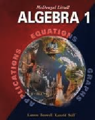 McDougal Littell Algebra 1 2004