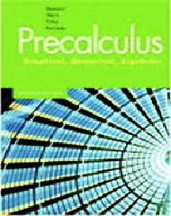 Precalculus: Graphical, Numerical, Algebraic Seventh Edition